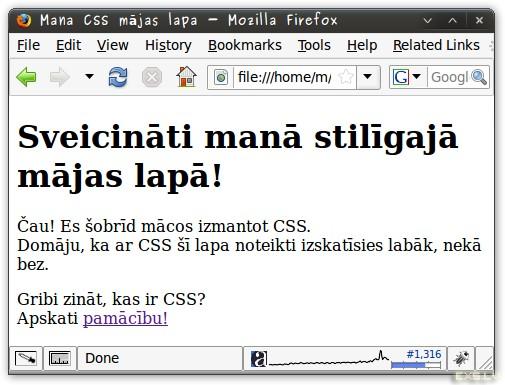 Mana CSS mājas lapa bez CSS
