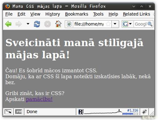 CSS mājas lapa ar CSS